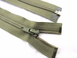 Olive Green Nylon Open Ended Zip