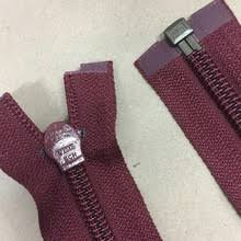 Wine Red Nylon Open Ended Zip