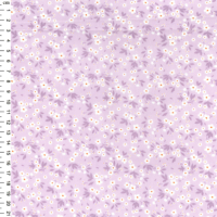 100% Cotton Lilac Small Floral Print Fabric x 0.5m