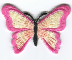 Iron On Butterfly Patch in 3 Colours