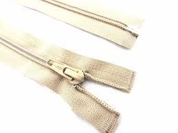 Ivory Nylon Open Ended Zip