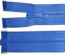 Heavy Duty Royal Blue Plastic Open Ended Zip